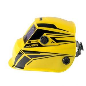 Маска сварщика (В РАЗОБР.ВИДЕ) «К-304», жёлтая