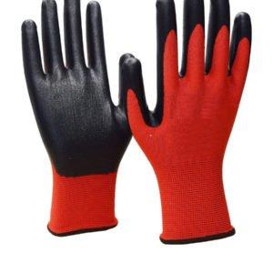 Перчатки нейлоновые с нитриловым покрытием ладони