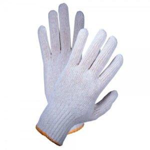 Перчатки люкс «РосМарка» белые 7й класс, с ПВХ точка, вес 60 грамм