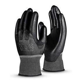 Перчатки «Микропол» нейлоновые с ПУ, черные