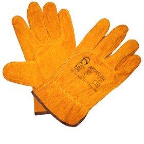 Перчатки желтые цельноспилковые «Драйвер»