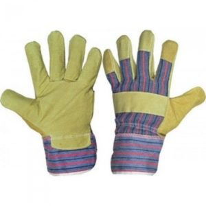 Перчатки из кожевенного спилка комбинированные «Хватка»