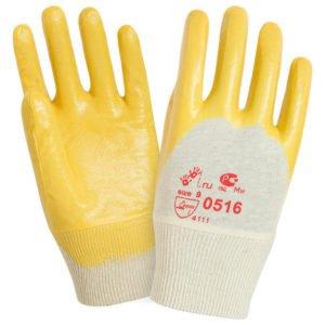 Перчатки «Лайт» хб с легким нитриловым покрытием, цв. желтый