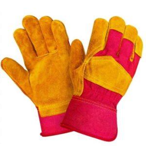 Перчатки спилковые комбинированные «Русский лев»