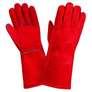 Краги красные «Трек», с подкладкой