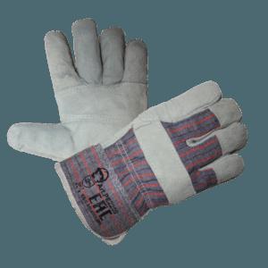 Перчатки спилковые комбинированные «Трал» эконом