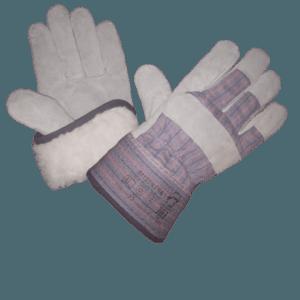 Перчатки спилковые комбинарованные «Трал», иск. мех
