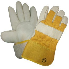 Перчатки кожаные комбинированные «Юкон», иск. мех