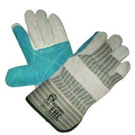 Перчатки спилковые комбинированные «Докер», усиленные