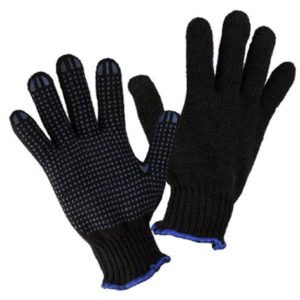 Перчатки полушерстяные двойные с ПВХ