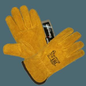 Перчатки желтые цельноспилковые «Драйвер», Thinsulate 40C