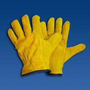 Перчатки из кожи и спилка